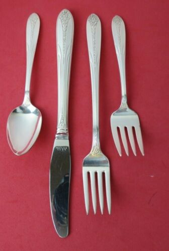 ART DECO 4 pc. Grille Place Setting 1930 PRINCESS ROYAL National Silver Co