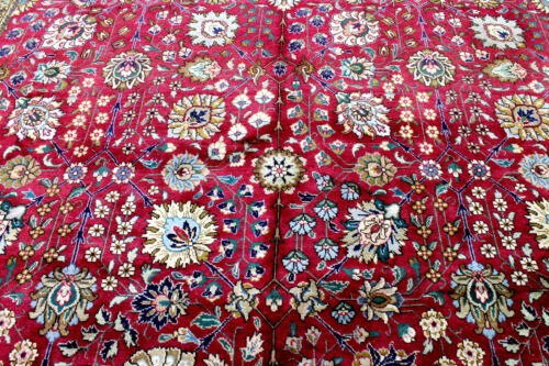 10X13 ELEGANT MASTERPIECE MINT MASTER KNOTTED SIGNED WOOL TABRIZZ ORIENTAL RUG