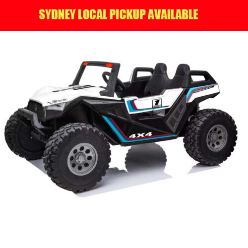 24V 400w 4WD DUNE RACER Electric Kids Ride On Car 2 Seats 2.4G Remote White