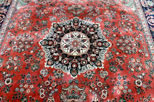 8X10 1960's FINE HAND KNOTTED 400+KPSI VEGETABLE DYE TABRIZZ WOOL ORIENAL RUG