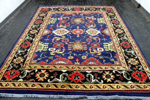 8X10 ELEGANT MINT NEW HAND KNOTTED MUTED COLORS WOOL OUSHAK TURKISH ORIENTAL RUG