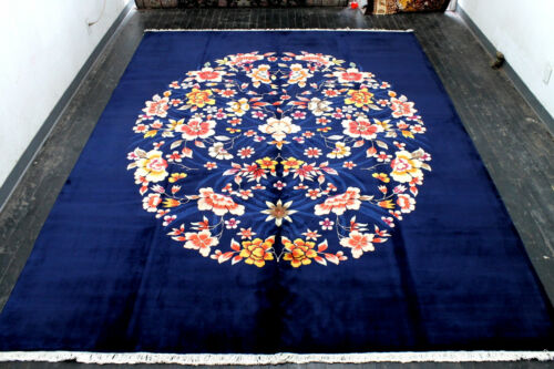 9X12 ONE IN MILLION MINT 200KPSI HAND KNOTTED WOOL DESIGNER FLORAL ORIENTAL RUG