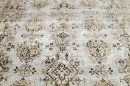 9X12 BREATHTAKING NEW HAND KNOTTED VEGETABLE DYE WOOL HERIZZ OUSHAK TURKISH RUG