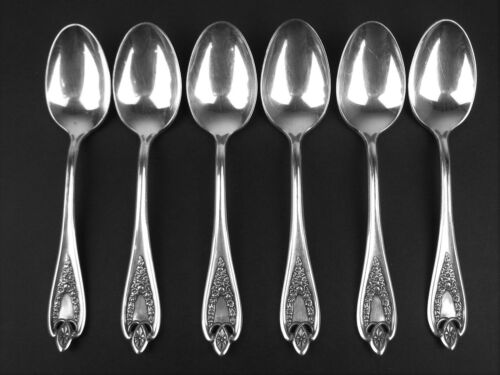 Set 6 Five O'clock Coffee Spoons 1847 Rogers Old Colony 1911 vintage silverplate