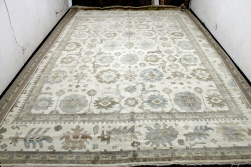 14X18 EXQUISITE MINT NEW PALACE HAND KNOTTED WOOL OUSHAK TURKISH ORIENTAL RUG