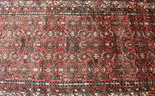 3'7 x 12'4 Semi Antique Hand Knotted Wool Area Rug Runner Oriental Carpet 4 x 12