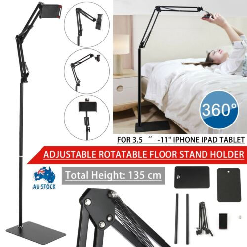 Adjustable Hands Free Floor Stand Bed Clip Holder For iPad iPhone Tablet Switch