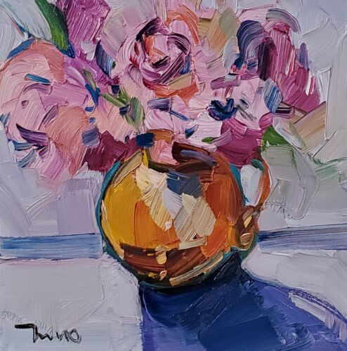 JOSE TRUJILLO Oil Painting IMPRESSIONISM Collectible STILL LIFE CONTEMPORARY ART