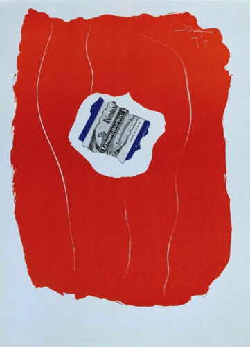 Tricolor XXieme Siecle by Robert Motherwell 1973 Lithograph Art Print 14.5x10.5