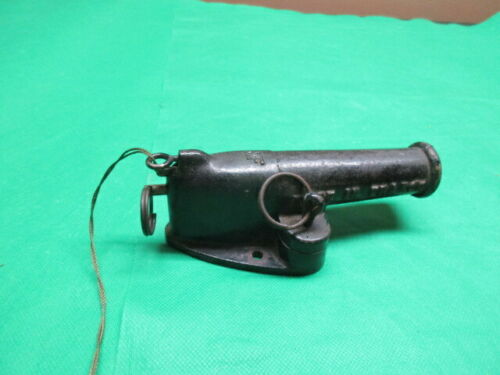 Vintage antique French MF Cast Iron Blank Signal Cannon Garden/Home Alarm