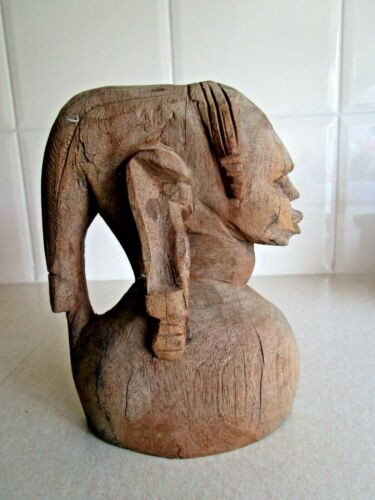 EXTEMELY OLD AFRICAN ASIAN ETHNOGRAPGHIC CARVING - BUY IT NOW