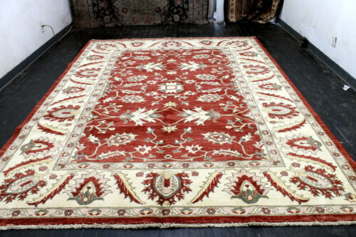 9X12 EXQUISITE NEW HAND KNOTTED VEGETABLE DYE WOOL TABRIZZ TURKISH ORIENTAL RUG