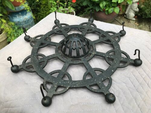 1884 Antique Cast Iron Hanging String Holder General Store Display Advertising