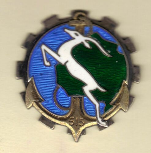STERLING SILVER French Indochina War Badge 515th Transport Group, VietnamOriginal Period Items - 13981