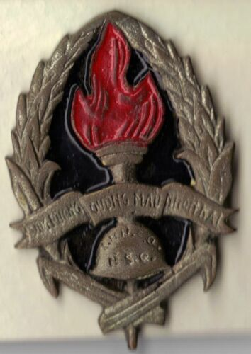 SALE! French Indochina War Badge Officers/NCOs Course Vietnam, LocalOriginal Period Items - 13981