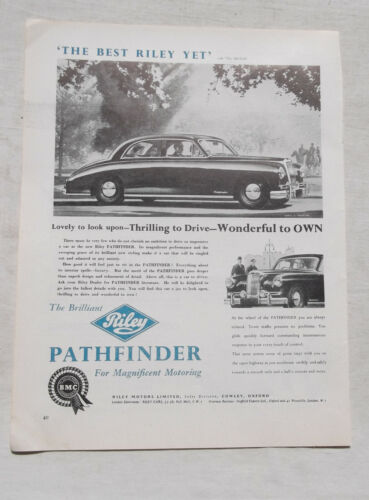 Riley Pathfinder Original Advertisement Removed from a Magazine