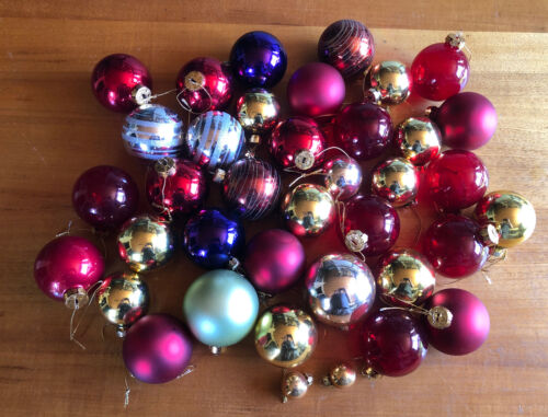 Quality Vintage Glass Christmas Baubles