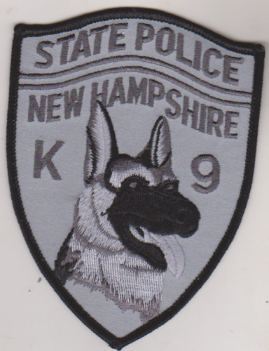 New Hampshire State Police K-9 subdued patch