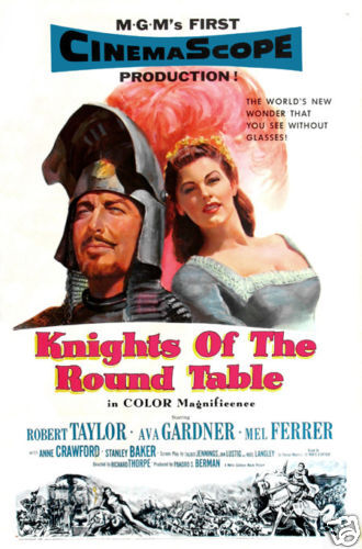 Knights of the round table Robert Taylor Movie poster