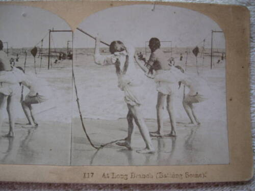 1800s AT LONG BRANCH, NEW JERSEY STEREOVIEW