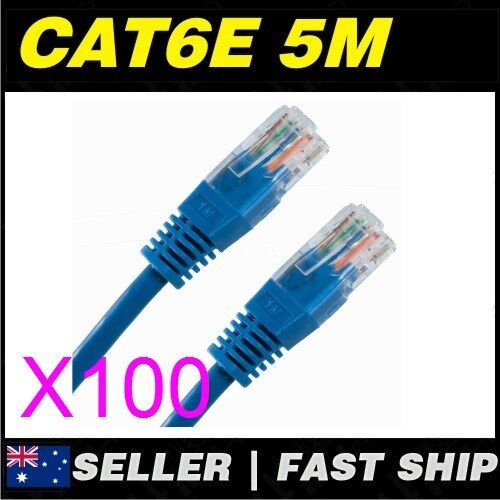 100x 5m Cat 6 Cat6 Blue Network LAN Cable Home NBN ADSL Phone PS4 Xbox TV