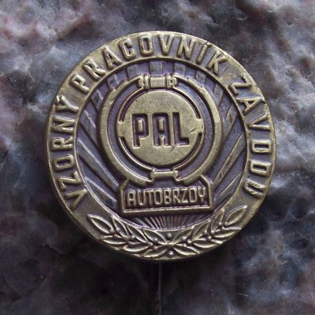 1960's Pal Auto Electrics Brakes & Servos Excellent Company Worker Award Pin