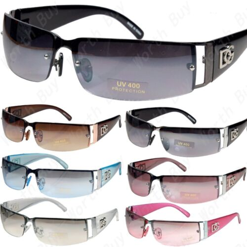 New DG Mens Womens Rectangular Rimless Designer Sunglasses Shades Eyewear Wrap