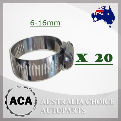 Hose Clamp 5 Pack 6-51mm Australian Made Stainless Band Trade Quality
