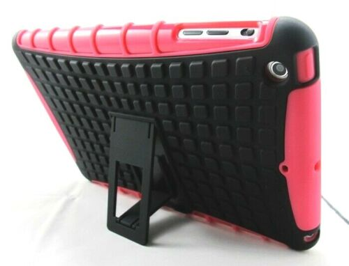 For iPad Mini 1, Pink Strong Heavy Duty Rugged Tough Case Cover Student Stand