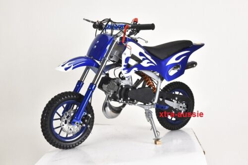 BLUE 49CC MINI MOTOR DIRT BIKE KIDS POCKET ROCKET PEE WEE MOTORCYCLE ATV 50CC <br/> GENUINE SYDNEY SELLER - BLUE, GREEN, RED, PINK, BLACK