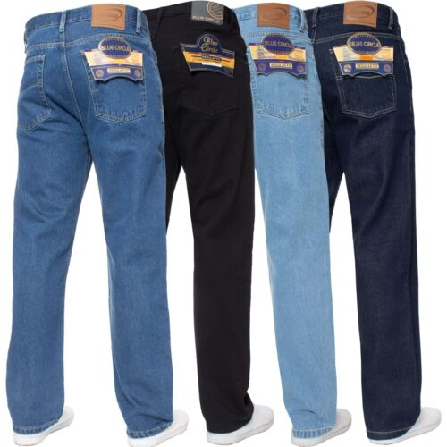 "New Mens Straight Leg Basic Heavy Work Jeans Denim Pants All Waist Big Sizes <br/> Extra Short - Extra Long Legs - Waist Sizes 28"" - 60"""
