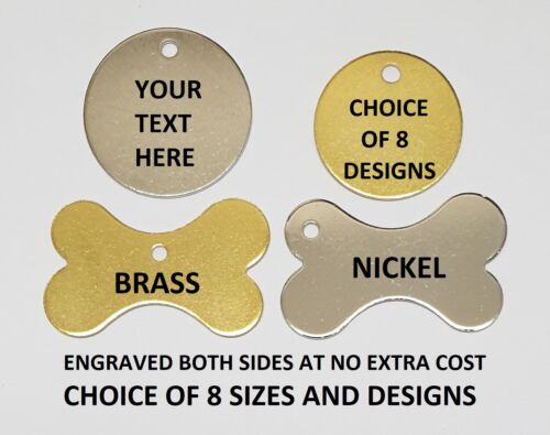 ENGRAVED DOG TAG PERSONALISED ROUND BONE ID NAME DISC LARGE SMALL PET CAT TAGS <br/> ✔FREE P&P ✔75,000+ SOLD!✔100% POSITIVE FB✔FROM £1.89✔