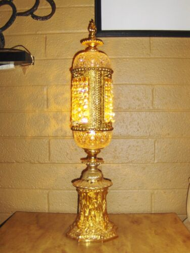 """Stunning 26"""" Gold and Crystal Antique Lamp :D :D :D"""