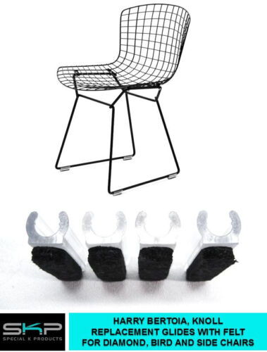 GLIDES FOR HARRY BERTOIA CHAIR  DIAMOND, BIRD, SIDE CHAIRS KNOLL PARTS, 4 SET