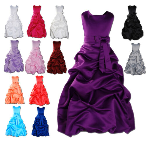 New Flower Girl Party Bridesmaid Wedding Pageant Dress in 9 Colours From 1Y-13Y