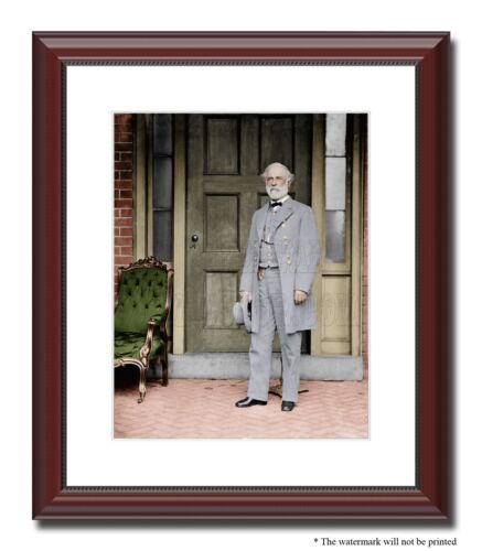 "Gen Robert E Lee Richmond Confederate 11x14"" Framed Photo Color Civil War -03116"