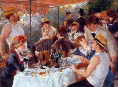 Oil Painting repro Pierre-Auguste Renoir The Luncheon of the Boating Party 36x48