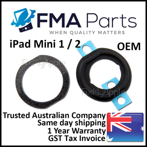 iPad Mini 1 2 OEM Home Button Rubber Gasket Holder Ring Plastic Set Replacement