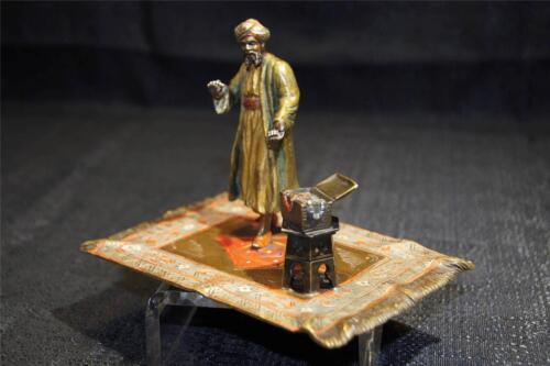 Antique Austrian Cold Painted Bronze of Arab Jewelry Dealer circa 1900