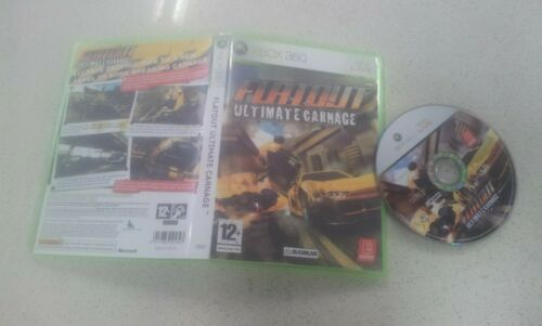 FLATOUT Ultimate Carnage Xbox 360 Game USED PAL Region