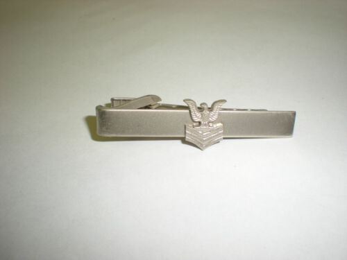 US NAVY PETTY OFFICER 1ST CLASS TIE CLIP Other Militaria - 135