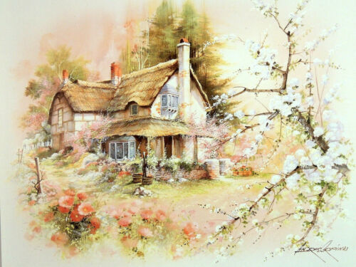 COUNTRY COTTAGE HOUSE PICTURE ART PRINT 16X20