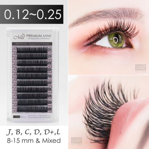 Individual Eyelash Extensions Mia Mink Lashes Semi Permanent J B C D DD L Curl <br/> ✔ Get 4 at price of 3 (Add 4 into cart)  ✔ 7 for 5
