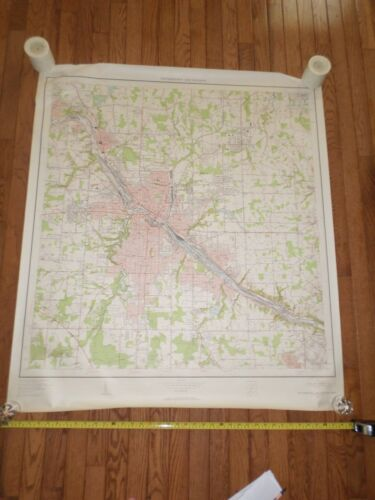 Fantastic, very large colored map of Youngstown (1954) Scarce!