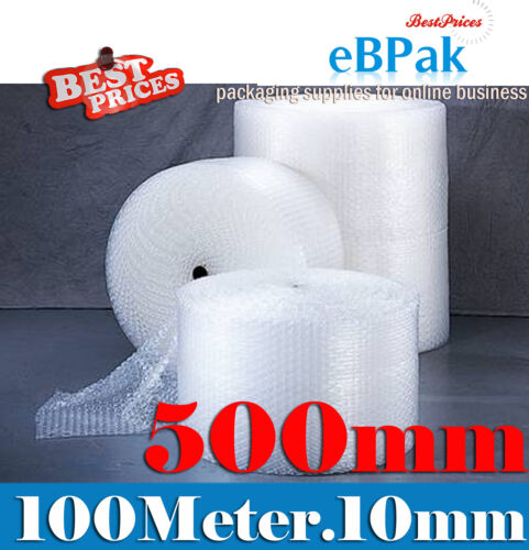 Bubble Cushioning Wrap 500mm x 100M Roll Clear Polycell P10 10mm Bubbles <br/> Bubble Wrap Wholesale! Pickup & VIP Delivery Available