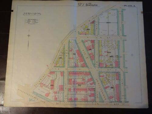 1892 Map of NW DC-Dupont Circle @ Q/19Th-Rare large property specific detail.