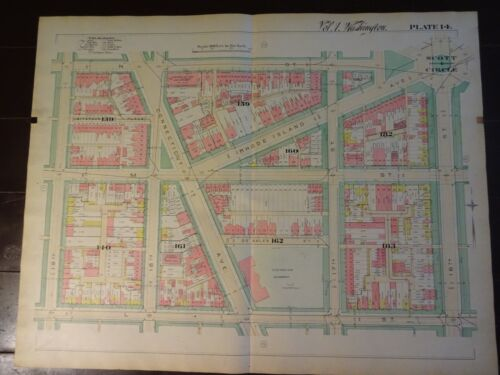 1892 Map of NW DC-19th St to Scott Circle - Rare large property specific detail.