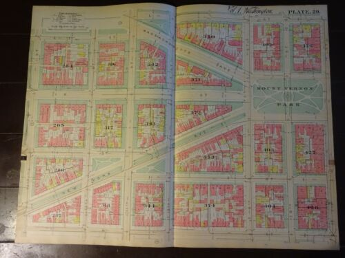 1892 Map of NW DC- Mt. Vernon Square Area - Rare large property specific detail