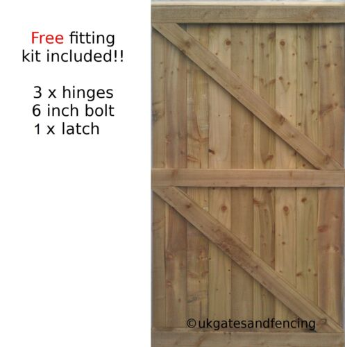 Wooden Garden Gate Wooden Gate  Pedestrian Gate All sizes  ! <br/> Free fitting kit - 8000+ of these SOLD 100% feedback