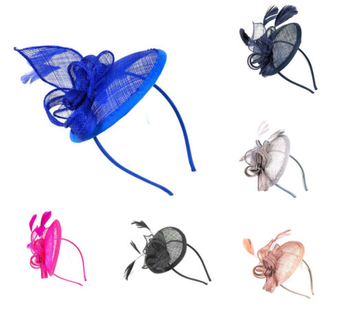 Large Headband Aliceband Hat Fascinator Weddings Ladies Day Race Royal Ascot 23